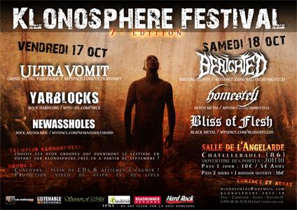 Klonosphere festival 7ème édition @ Chatellerault